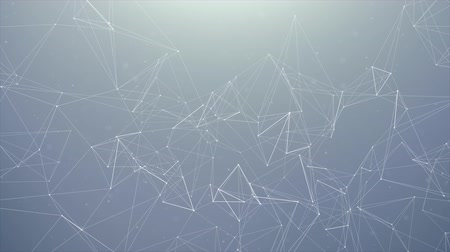 particle system : Abstract rendering of chaotic plexus structure lines and polygonal spheres Connection. Futuristic shape. Network Technology concept. Modern motion graphic Seamless Loop Background. Stock Footage