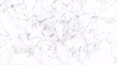 абстрактный фон : Abstract Digital Concept of Geometrical Figures Polygon Plexus Fractals Moving, Connecting Between and with Particles. Triangular Technological. Abstract Network Animation Loop background