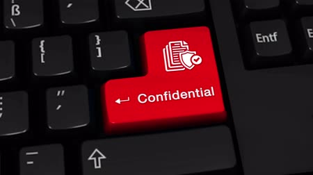 odemknout : Confidential Rotation Motion On Red Enter Button On Modern Computer Keyboard with Text and icon Labeled. Selected Focus Key is Pressing Animation. Dostupné videozáznamy