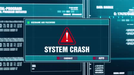 езда с недозволенной скоростью : System Crash Warning Notification Generated on Digital System Security Alert Error Message on Computer Screen after Entering Login And Password . Cyber Crime, Computer Hacking Concept