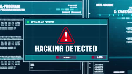 езда с недозволенной скоростью : Hacking Detected Warning Notification Generated on Digital System Security Alert Error Message on Computer Screen after Entering Login And Password . Cyber Crime, Computer Hacking Concept