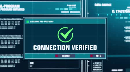verifying : Connection Verified Warning Notification Generated on Digital System Security Alert Error Message on Computer Screen after Entering Login And Password . Cyber Crime, Computer Hacking Concept