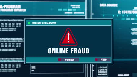 езда с недозволенной скоростью : Online Fraud Warning Notification Generated on Digital System Security Alert Error Message on Computer Screen after Entering Login And Password . Cyber Crime, Computer Hacking Concept
