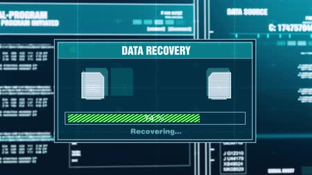 hdd : 85. Data Recovery Progress Warning Message Files Recovered Alert on Computer Screen Entering System Login And Password. System Security, Cyber Crime, Computer Hacking Concept