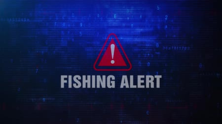 phishing : Fishing Alert Warning Error Message Blinking on Screen . Entering Login And Password on Computer Screen 4K . Abstract Digital Glitch and Distorted Noise, Computer Hacking Concept