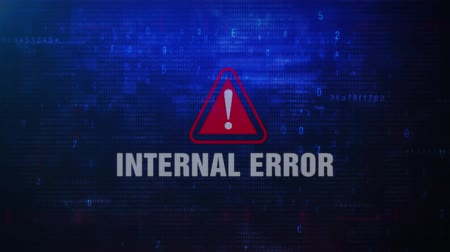 navegador : Internal Error Alert Warning Error Message Blinking on Screen . Entering Login And Password on Computer Screen 4K . Abstract Digital Glitch and Distorted Noise, Computer Hacking Concept Stock Footage
