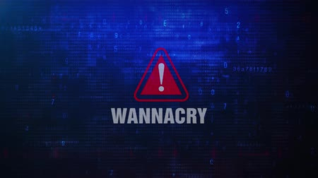 statistiche : WannaCry Avviso Avviso Messaggio di errore lampeggiante sullo schermo. Immissione di login e password sullo schermo del computer 4K. Glitch digitale astratto e rumore distorto, concetto di hacking del computer
