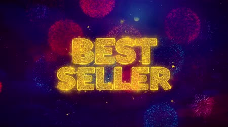 премия : Best Seller Greeting Text with Particles and Sparks Colored Bokeh Fireworks Display 4K. for Greeting card, Celebration, Party Invitation, calendar, Gift, Events, Message, Holiday, Wishes .