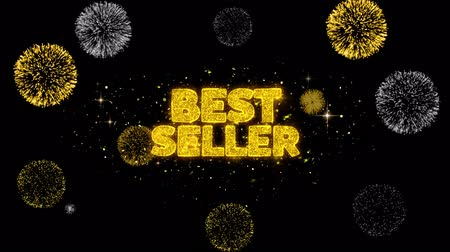 madalya : Best Seller Golden Greeting Text Appearance Blinking Particles with Golden Fireworks Display 4K for Greeting card, Celebration, Invitation, calendar, Gift, Events, Message, Holiday, Wishes .
