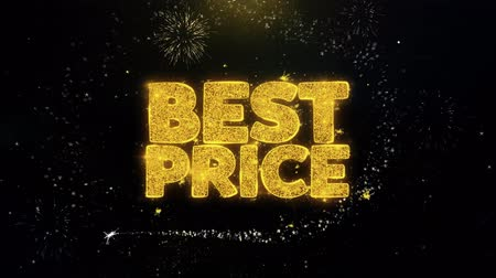 cupom : Best Price Written Gold Glitter Particles Spark Exploding Fireworks Display 4K . Greeting card, Celebration, Party Invitation, calendar, Gift, Events, Message, Holiday, Wishes Festival .