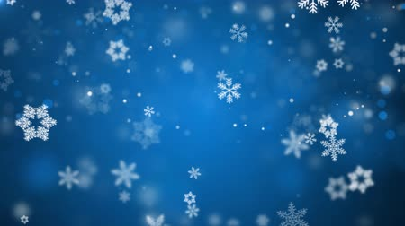 разброс : Blue Christmas Background With White Snow Snowfall Snowflake Particles Seamlessly Loop Black Alpha Green Screen Animation Стоковые видеозаписи