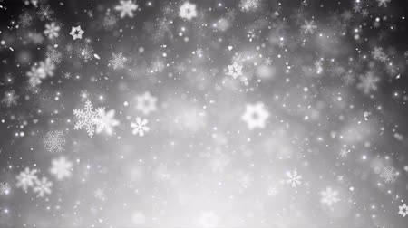 фантастический : White Winter Christmas Background, Falling Snowflakes And Stars. Snow Snowfall Snowflake Particles Seamlessly Loop Black Alpha Green Screen Animation Стоковые видеозаписи