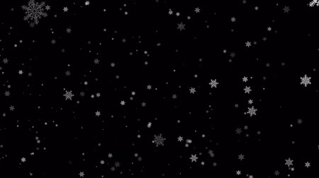 camera rotation : Slow Motion Left side Falling Snow Snowfall Snowflake Particles Seamlessly Loop Black Alpha Green Screen Animation