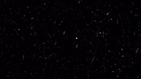 janeiro : Christmas Background With Snowflakes - Falling Snow Snowfall Snowflake Particles Seamlessly Loop Black Alpha Green Screen Animation Vídeos