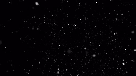 fuzz : Whitw christmas background with white bright snowflakes animation. Snow Snowfall Snowflake Particles Seamlessly Loop Black Alpha Green Screen Animation