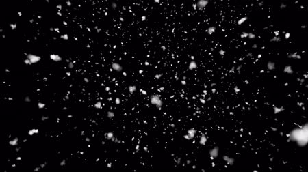 降誕 : Abstract Snow right up to Down Frosty Christmas Frame With Snowflakes Falling, Snow Snowfall Snowflake Particles Seamlessly Loop Black Alpha Green Screen Animation