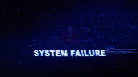 błąd : Failure System Text Digital Noise Glitch Effect Tv Screen Loop Background. Login and Password With System Error Security ,Hacking Alert , Cyber Crime Attack Computer Error Distortion Message . Wideo
