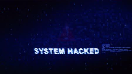 senha : System Hacked Text Digital Noise Glitch Effect Tv Screen Background. Login and Password With System Error Security ,Hacking Alert , Cyber Crime Attack Computer Error Distortion Message .