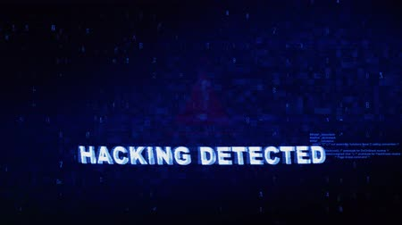 уведомление : Hacking Detected Text Digital Noise Glitch Effect Tv Screen Background. Login and Password With System Error Security ,Hacking Alert , Cyber Crime Attack Computer Error Distortion Message .