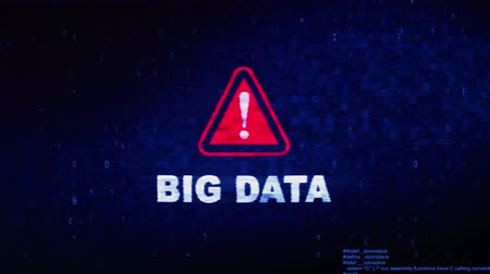 キーワード : Big Data Text Digital Noise Glitch Effect Tv Screen Loop Background. Login and Password With System Error Security ,Hacking Alert , Cyber Crime Attack Computer Error Distortion Message .