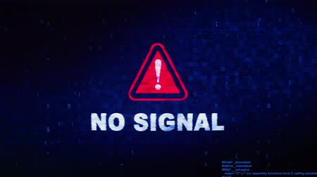 sem problemas : No Signal Text Digital Noise Glitch Effect Tv Screen Loop Background. Login and Password With System Error Security ,Hacking Alert , Cyber Crime Attack Computer Error Distortion Message . Vídeos