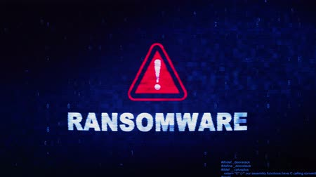 troyano : Ransomware Text Digital Noise Glitch Effect Tv Screen Loop Background. Login and Password With System Error Security ,Hacking Alert , Cyber Crime Attack Computer Error Distortion Message .