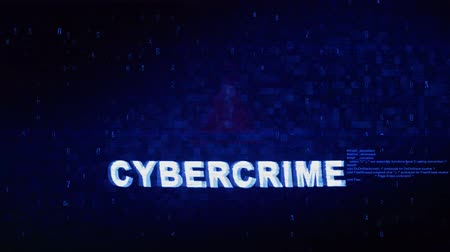 hozzáférés : Cybercrime Text Digital Noise Glitch Effect Tv Screen Background. Login and Password With System Error Security ,Hacking Alert , Cyber Crime Attack Computer Error Distortion Message . Stock mozgókép