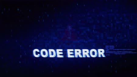 command : Code Error Text Digital Noise Glitch Effect Tv Screen Background. Login and Password With System Error Security ,Hacking Alert , Cyber Crime Attack Computer Error Distortion Message . Stock Footage