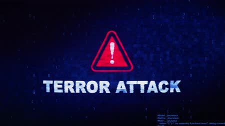lutador : Terror Attack Text Digital Noise Glitch Effect Tv Screen Loop Background. Login and Password With System Error Security ,Hacking Alert , Cyber Crime Attack Computer Error Distortion Message . Stock Footage