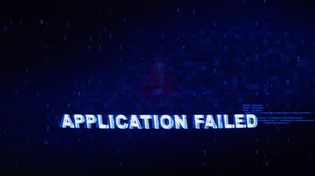 vaga : Application Failed Text Digital Noise Glitch Effect Tv Screen Loop Background. Login and Password With System Error Security ,Hacking Alert , Cyber Crime Attack Computer Error Distortion Message .