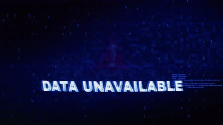 calçadão : Data Unavailable Text Digital Noise Glitch Effect Tv Screen Loop Background. Login and Password With System Error Security ,Hacking Alert , Cyber Crime Attack Computer Error Distortion Message . Stock Footage