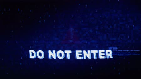 вводить : Do Not Enter Text Digital Noise Glitch Effect Tv Screen Loop Background. Login and Password With System Error Security ,Hacking Alert , Cyber Crime Attack Computer Error Distortion Message . Стоковые видеозаписи
