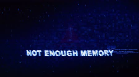 мозговая атака : Not Enough Memory Text Digital Noise Glitch Effect Tv Screen Loop Background. Login and Password With System Error Security ,Hacking Alert , Cyber Crime Attack Computer Error Distortion Message .