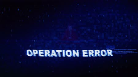 sending : Operation Error Text Digital Noise Glitch Effect Tv Screen Loop Background. Login and Password With System Error Security ,Hacking Alert , Cyber Crime Attack Computer Error Distortion Message . Stock Footage