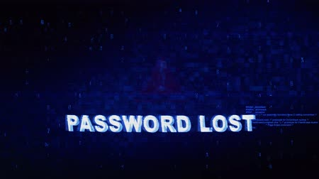 čtvrtek : Password Lost Text Digital Noise Glitch Effect Tv Screen Loop Background. Login and Password With System Error Security ,Hacking Alert , Cyber Crime Attack Computer Error Distortion Message .