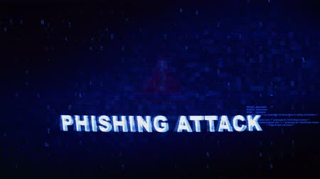 podvod : Phishing Attack Text Digital Noise Glitch Effect Tv Screen Loop Background. Login and Password With System Error Security ,Hacking Alert , Cyber Crime Attack Computer Error Distortion Message .