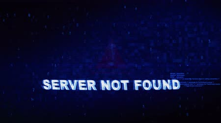 arıza : Server Not Found Text Digital Noise Glitch Effect Tv Screen Loop Background. Login and Password With System Error Security ,Hacking Alert , Cyber Crime Attack Computer Error Distortion Message .