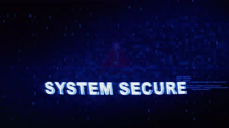 senha : System Secure Text Digital Noise Glitch Effect Tv Screen Loop Background. Login and Password With System Error Security ,Hacking Alert , Cyber Crime Attack Computer Error Distortion Message . Vídeos
