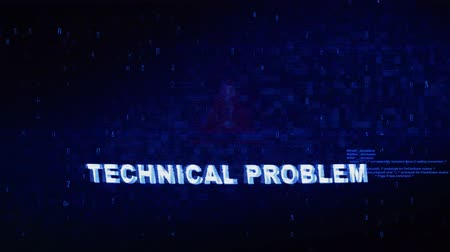 em desenvolvimento : Technical Problem Text Digital Noise Glitch Effect Tv Screen Loop Background. Login and Password With System Error Security ,Hacking Alert , Cyber Crime Attack Computer Error Distortion Message .
