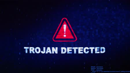 езда с недозволенной скоростью : Trojan Detected Text Digital Noise Glitch Effect Tv Screen Background. Login and Password With System Error Security ,Hacking Alert , Cyber Crime Attack Computer Error Distortion Message . Стоковые видеозаписи