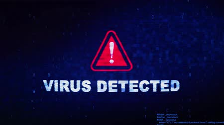 monitoren : Virus Detected Text Digital Noise Glitch Effect Tv Screen Background. Login and Password With System Error Security ,Hacking Alert , Cyber Crime Attack Computer Error Distortion Message .