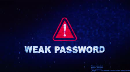 şifreleme : Weak Password Text Digital Noise Glitch Effect Tv Screen Background. Login and Password With System Error Security ,Hacking Alert , Cyber Crime Attack Computer Error Distortion Message .