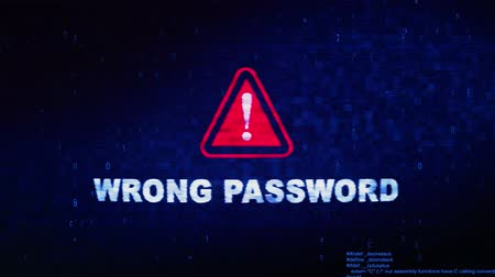 отменить : Wrong Password Text Digital Noise Glitch Effect Tv Screen Background. Login and Password With System Error Security ,Hacking Alert , Cyber Crime Attack Computer Error Distortion Message .