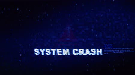 incapacidade : SYSTEM CRASH Text Digital Noise Glitch Effect Tv Screen Loop Background. Login and Password With System Error Security ,Hacking Alert , Cyber Crime Attack Computer Error Distortion Message .
