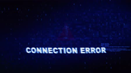 on site research : Connection Error Text Digital Noise Glitch Effect Tv Screen Loop Background. Login and Password With System Error Security ,Hacking Alert , Cyber Crime Attack Computer Error Distortion Message . Stock Footage