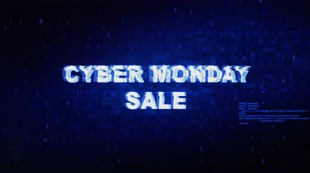 metka : Cyber Monday Sale Text Digital Noise Twitch and Glitch Effect Tv Screen Loop Animation Background. Login and Password Retro VHS Vintage and Pixel Distortion Glitches Computer Error Message.