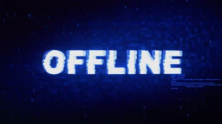 кошелек : Offline Text Digital Noise Twitch and Glitch Effect Tv Screen Loop Animation Background. Login and Password Retro VHS Vintage and Pixel Distortion Glitches Computer Error Message. Стоковые видеозаписи