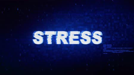 stres : Stress Text Digital Noise Twitch and Glitch Effect Tv Screen Loop Animation Background. Login and Password Retro VHS Vintage and Pixel Distortion Glitches Computer Error Message. Wideo