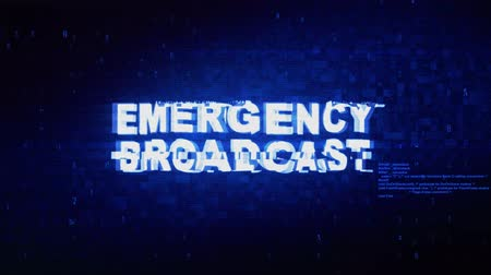 объявлять : Emergency Broadcast Text Digital Noise Twitch and Glitch Effect Tv Screen Loop Animation Background. Login and Password Retro VHS Vintage and Pixel Distortion Glitches Computer Error Message.