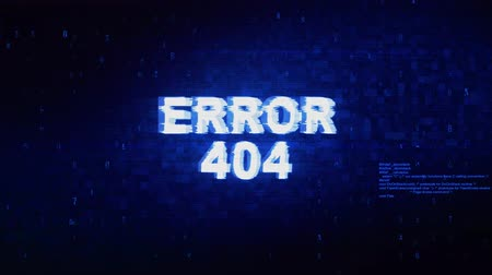 oeps : Error 404 Text Digital Noise Twitch and Glitch Effect Tv Screen Loop Animation Background. Login and Password Retro VHS Vintage and Pixel Distortion Glitches Computer Error Message.